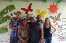 Staff from left to right..William, Beverly, Pete, Pierre, Tito, Pam